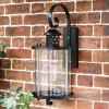 Black Top Fix Cylindrical Wall Light