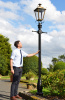 Antique Brass Dorchester Lamp Post Scale Shot