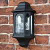 Castleton Black Flush Half Traditional Wall Lantern