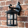 Classic Black Top Fix Cylindrical Porch Light