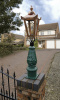 Green & Copper Mini Victorian Lamp post set