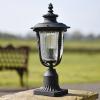 Fluted Antique Bronze Gothic Garden Pillar Light
