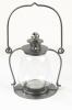 Galvanised Silver Garden Candle Lantern