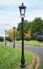 Garden Lamp Post With Gothic Style Black Lantern