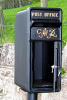 King George Rex Post Box Black