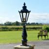 Hexagonal garden post and pathway light