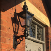 Kensington Wall Light with Upgraded Royale Bracket On Brick Wall