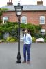 "Large Black ""Eastrington"" Deluxe Lamp Post Set 3.4m"