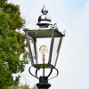 Large Victorian Lantern Top In Polished Nickel