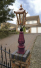 Maroon & Copper Mini Victorian Lamp post set