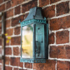 Ornate Brass Half Wall Lantern