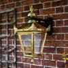 Polished Brass Top Fix Victorian Wall Lantern