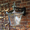 Polished Chrome Top Fix Victorian Wall Lantern