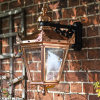Polished Copper Top Fix Victorian Wall Lantern