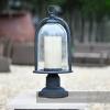 Rustic Country Chic Garden Pillar Light In Antique Wash