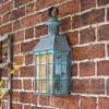 Rustic Verdigris Vintage Flush Wall Lantern