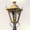 Small Antique Brass Gothic Lantern
