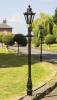 Small Black Hexagonal Garden Lamp Post