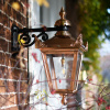 Small Copper Top Fix Victorian Wall Lantern