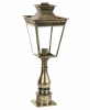 The Harwell Solid Brass Pillar Lantern Set