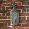"""Hollingbury"" Large Brass Flush Wall Lantern"