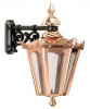 Copper Hexagon Top Fix Wall Light