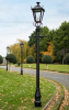Traditional Black Garden Lamp Post