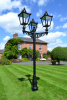 Triple Headed Garden Lamp Post