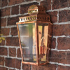 Polished Copper Georgian Manor Simplistic Brass Wall Light