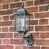 Classical Wall Lantern with Optional PIR Sensor