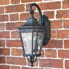 Black Traditional Suspended Wall Lantern