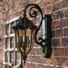 Baroque Hour Glass Wall Lantern and Bracket