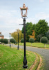 Victorian Garden Lamp Post With A Copper Lantern Top