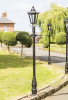 2.3m Tall Black Victorian Garden Lamp Post
