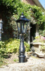 Black Victorian Driveway Pillar Lamp Post and Lantern