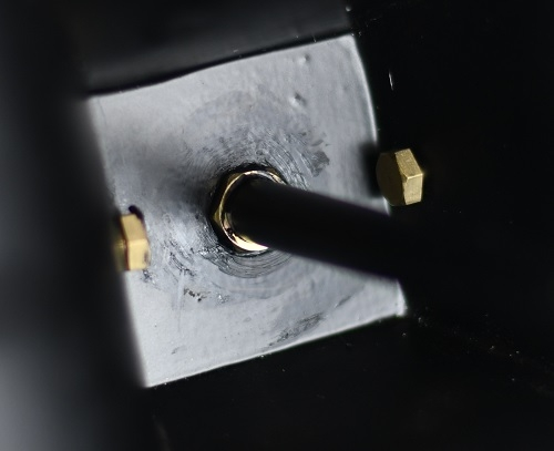 Black Silicon Applied to Inside of Lantern Lid