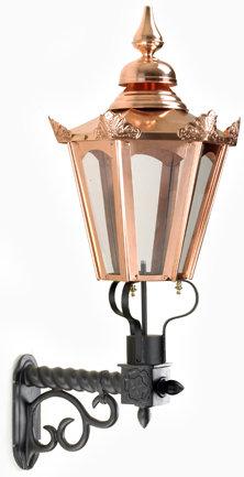 copper hexagonal wall lights