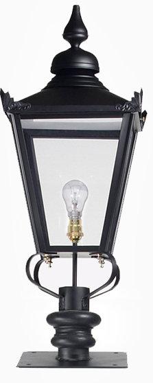 black victorian pillar post light