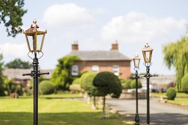 Copper Lamp Posts