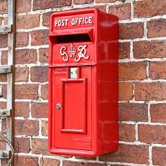 Slim King George Post Box- Red