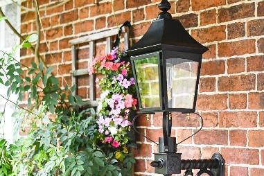 Black 'Royston' Victorian Garden Wall Light