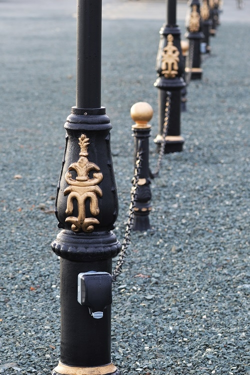 Lamp Post with Gold Detail