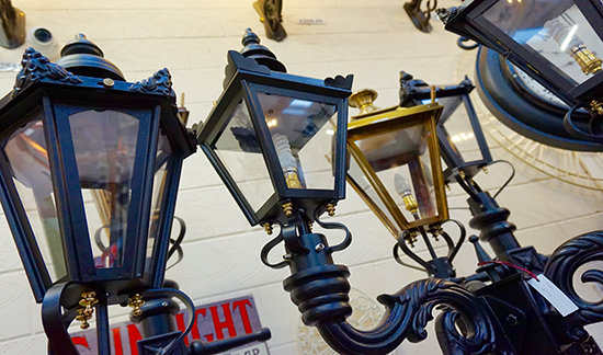 Lamp Post Display In Our Showroom