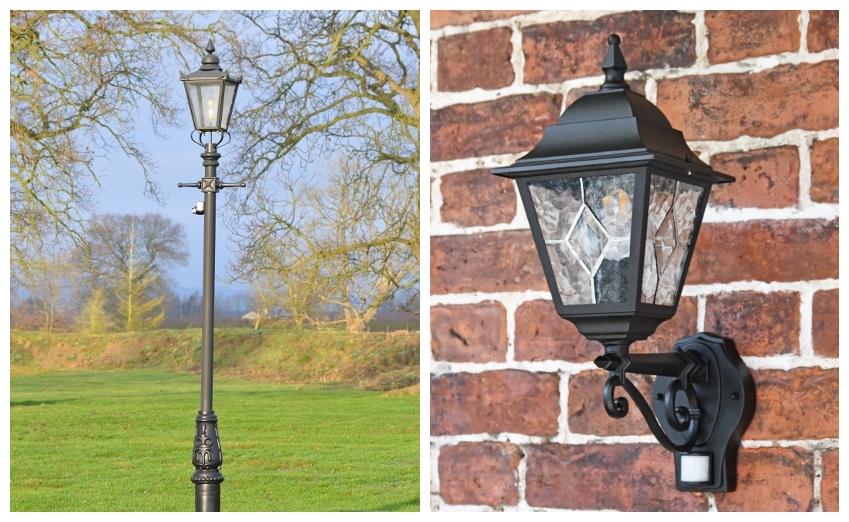 PIR Lamp Post & Lantern