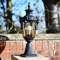 Classic Baroque Style Pedestal Pillar Light