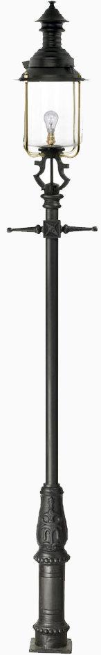 cast iron base lamp post and belgravia lantern set