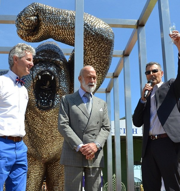 Uri Geller, Prince Michael of Kent & Clive Knowles Toasting the Spoon Gorilla