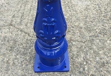 custom painted lamp posts