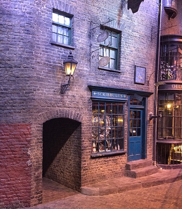 Diagon alley wall lights