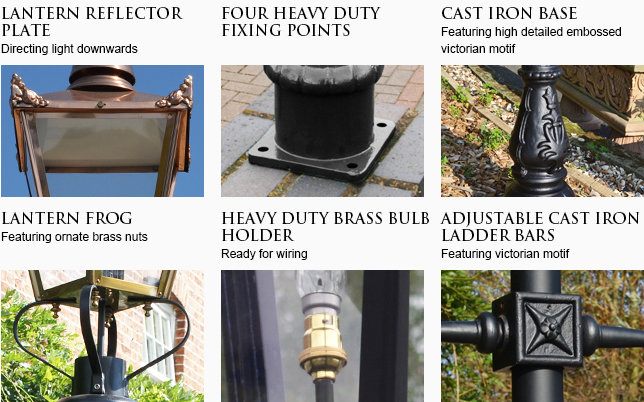 lamp post supplied with free brass bulb holder, ladder bars and accessories